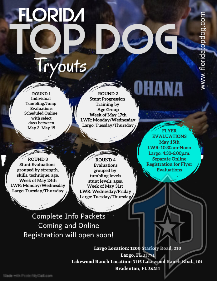 Florida Top Dog All-Star Tryouts ~ Registration is now OPEN!