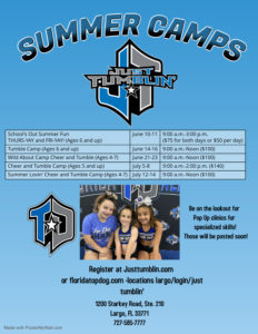 Just Tumblin Summer Camps - Made with PosterMyWall
