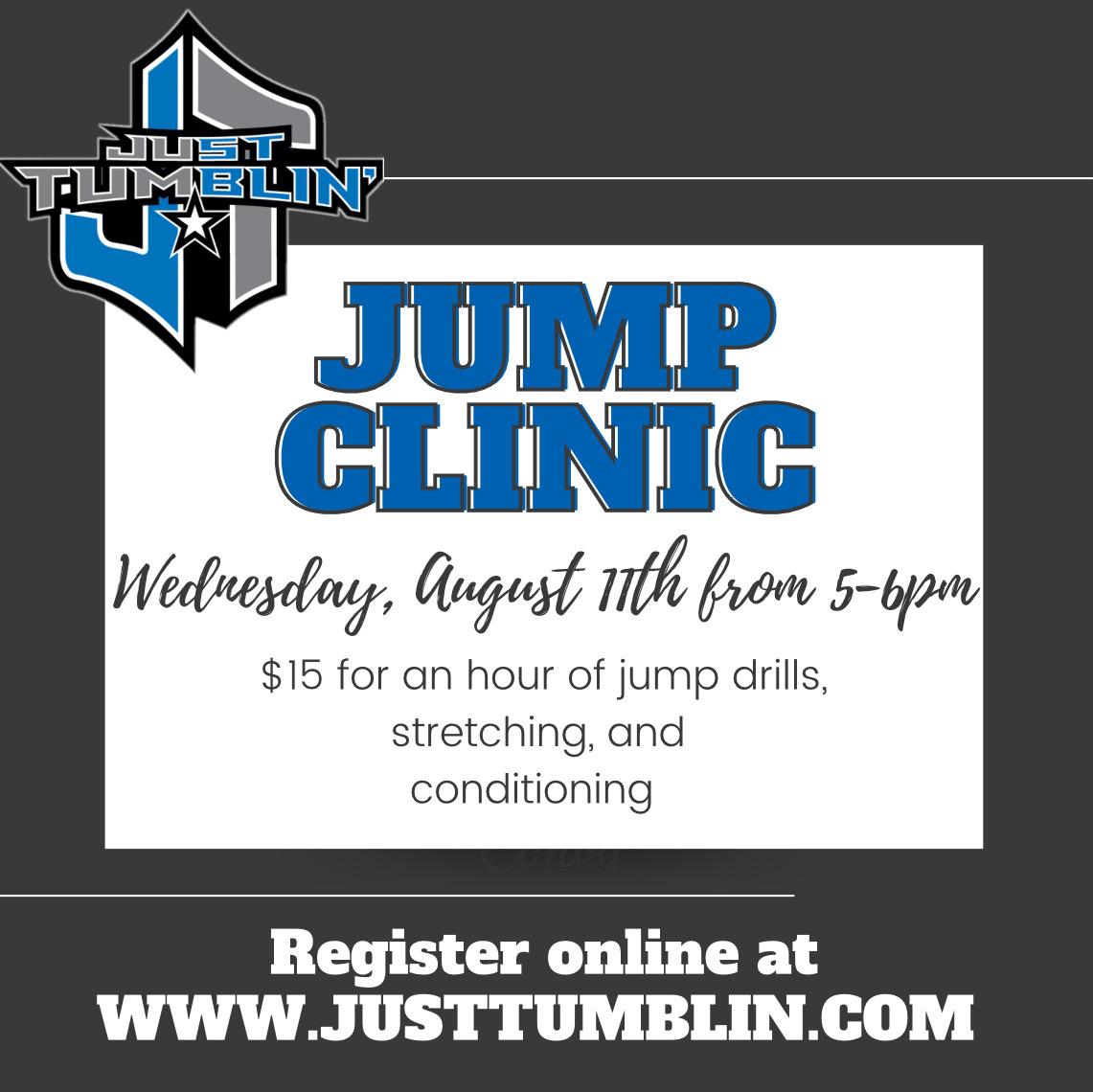 Pop Up Jump Clinic with Coach Danielle!