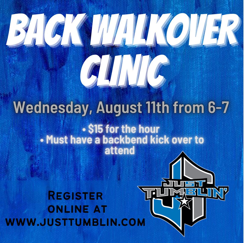 Back Walkover Clinic